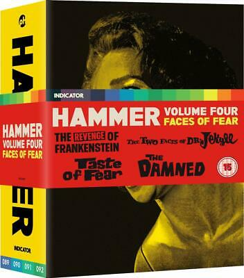 HAMMER Volume 4: Faces Of Fear BOX 4 BLURAY Limited Edition in Inglese NEW .cp