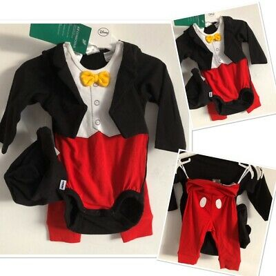New Tags H&m Baby Boys Disney Mickey Mouse Outfit 3 piece set  0-3 Months