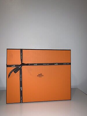 Authentic Hermes Gift Box & Ribbon