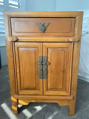 Antique Chinese 1 Drawer 2 Door Cabinet