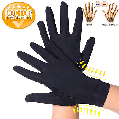Copper Infused Arthritis Gloves Compression Support Hands Pain Relief Unisex AU