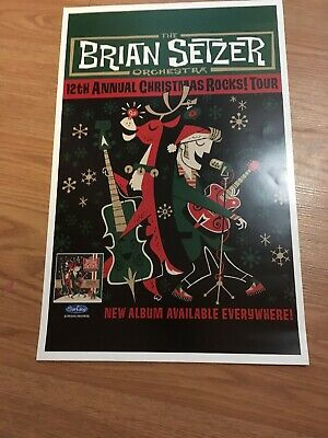 Poster - The Brian Seltzer Orchestra 12Th Annual Christmas Rocks Tour 11X17