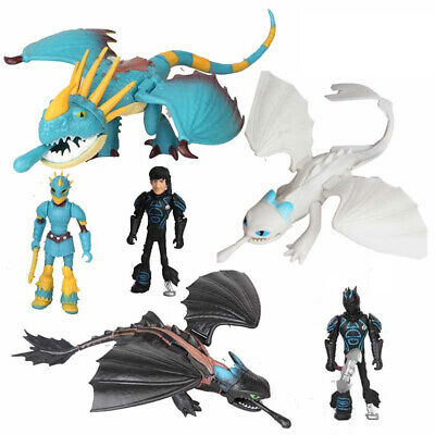 How To Train Your Dragon Hiccup Toothless Night Fury 6Pcs Action Figure Xmas Toy