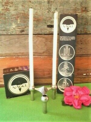 Nagel Candle Stick Midcentury Metal Stacking & Candles West Germany Variante S22