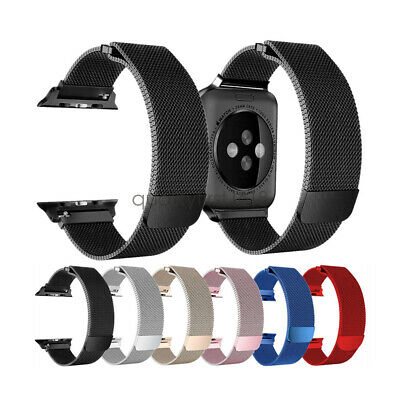Stainless Steel Milanese Loop Watch Band Strap For Apple Watch 5 4 3 44/42 40/38
