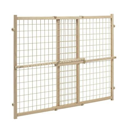 Evenflo Position and Lock Tall Pressure Mount Wood Gate expands from 31- 50 in