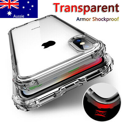 For iPhone XR XS Max Clear Phone Case Shockproof Silicon Bumper Slim Soft Cover