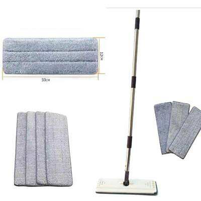 4Pcs Flat Microfibre Mop Cloth Replacement For Wooden Floor Cleaner Tile Kitchen