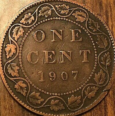 1907 Canada Large Cent Large 1 Cent Penny