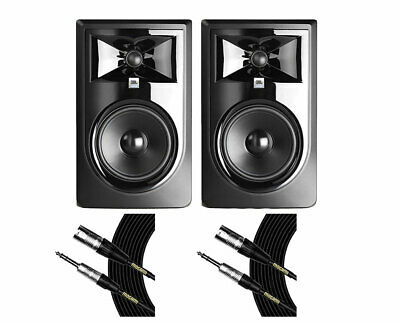 2x JBL 306P MkII Active Speaker Powered Studio Monitor + Mogami Cables
