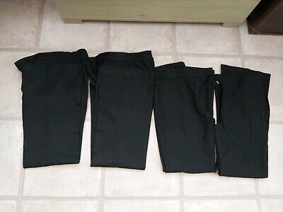 4 Pairs Of Girls Black School Trousers Age 11 Marks And Spencer And BHS
