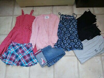 Girls Clothes Bundle Inc Next Jeans Dress 7-8 Years Skort Trousers