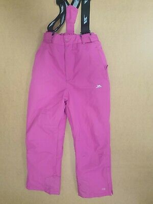 Gg25 Girls Trespass Pink Salopettes Snowboarding Skiing Age 9-10 Years W26 L26