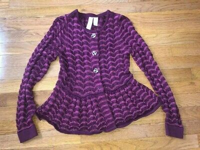 Matilda Jane Grape Leaf Cardigan Size XS Adult Paint By Numbers Fall 2013
