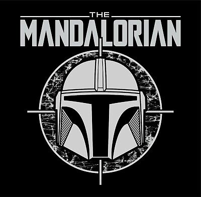 star wars THE MANDALORIAN boba fett jango bounty hunter helmet t-shirt yoda baby