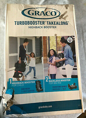 Graco TurboBooster TakeAlong High Back Booster Child Car Auto Seat 40-100 lb