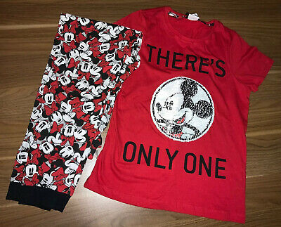 Girls Pyjama Set Mickey Mouse Two Way Sequins 9 - 10 YEARS BNWT New With Tags