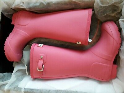 Hunter Original Kids girls Wellington / Wellie Boots, Pink / Fuchsia, BNIB