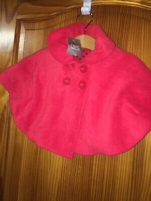 Baby Girls NEXT Age 3-6 Months Cape Jacket New Tags Red