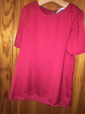 Girls New Top Age 13-14 Years Red Short Sleeved Marks & Spencer's