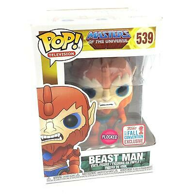 FUNKO POP MASTERS OF THE UNIVERSE 539 BEAST MAN FLOCKED 2017 CONVENTION EXC