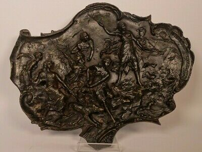 Bronze Relief Plaque - Diana Hunting Scene - Inscribed L.fragola, Vienna 1892
