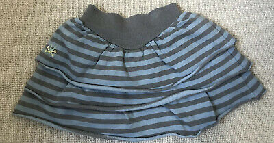 NO ADDED SUGAR Blue And Grey Stripe Skirt Age 4 Years