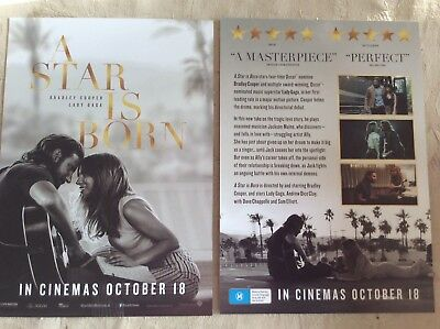 Promotional Movie Flyer A Star Is Born Bradley Cooper Lady Gaga *NOT A DVD*