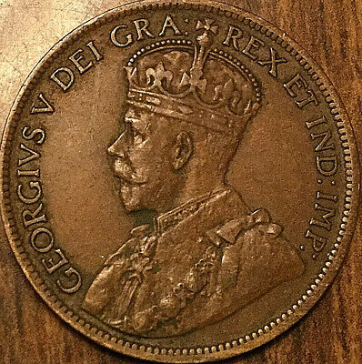 1917 CANADA LARGE CENT PENNY LARGE 1 CENT COIN - Nicer example!