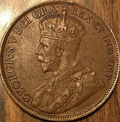 1918 CANADA LARGE CENT PENNY LARGE 1 CENT COIN - Excellent example!