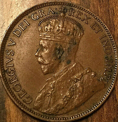 1918 CANADA LARGE CENT PENNY LARGE 1 CENT COIN - Nicer example!
