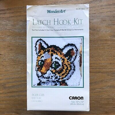 "Wonderart Tiger Cub Latch Hook Kit 12/"" X 12/"""