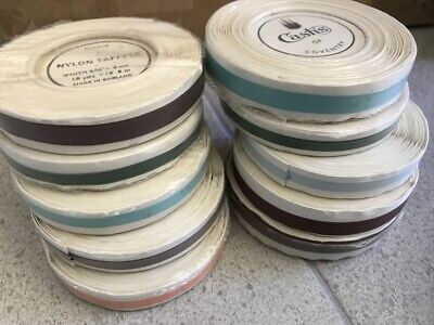 Vintage English Cash's Ribbon Rolls unused Sewing Craft AS IS