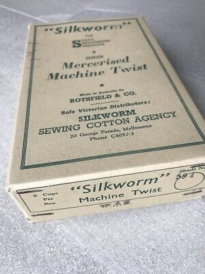 Vintage Sewing Silkworm Threads Beige Fawn Cotton Reels AS IS