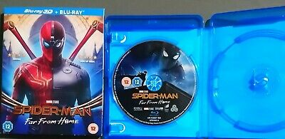 Spider-Man: Far From Home Single Disc Blu-Ray W/ Slipcover Marvel Mcu Bluray