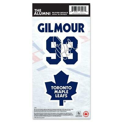 Toronto Maple Leafs Doug Gilmour Name & Number Decal Sticker Set Hockey NHL