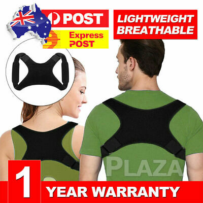 Posture Corrector Women Men Shoulder Brace Back Support Strap Belt Adjustable J