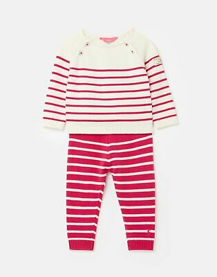 Joules Baby Girls Georgia Knitted Top and Trousers Set  - PINK