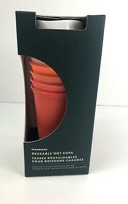 Starbucks Holiday 2019 Reusable Hot Cups - 6 Pack W/ Lids 16Oz Christmas New