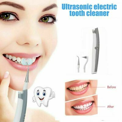 Ultra Sonic Electric Tooth Stain Eraser Cleaner LED Cleaning Dental Scaler UK