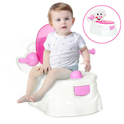 2 in 1 Kids Toilet Seat Baby Toddler Training Potty Trainer Urinal Chair Safety