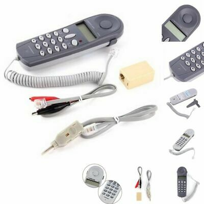 Telephone Tester Phone Butt Test Tester Lineman Tool Network Cable Set Network