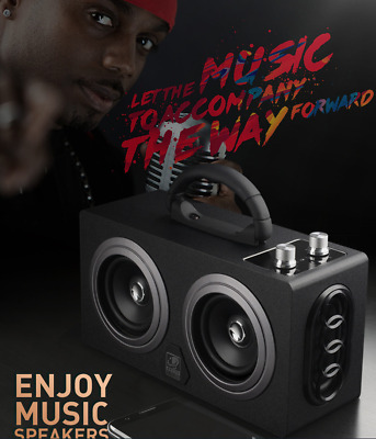 Battery Powered Portable Stereo Ghetto Speaker with Bluetooth USB 100w M8