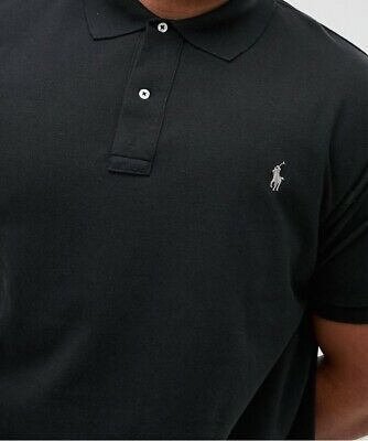 Ralph Lauren Mens Polo Shirt BNWT Black Size 1XB Big Tall Size Genuine Authentic