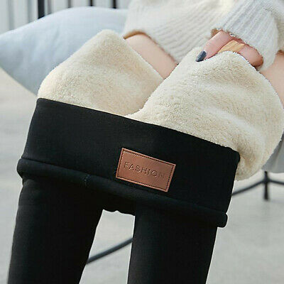 Warm Winter Tight Thick Velvet Wool Women Cashmere Pants Trousers Leggings c998