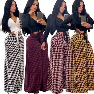 Womens Boho Floral Baggy Yoga Hippie Wide Leg Palazzo Trousers Leggings UK c998