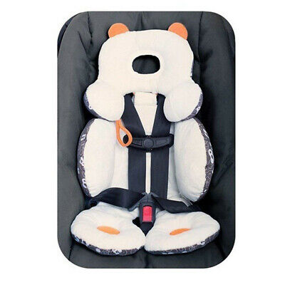 Baby Kids Car Seat Stroller Soft Cushion Pad Liner Mat Head Support Safety White