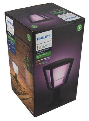 Philips Hue White and Color Ambiance Econic Outdoor Sockelleuchte schwarz
