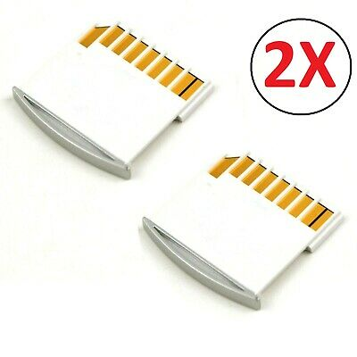 2x Micro SD Card Adapter TF to Short Mini SD adapter For MacBook Pro Air Retina