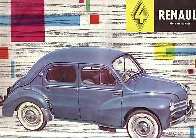 Grand Catalogue  RENAULT 4 CV  1959  BROCHURE  PROSPECTUS PROSPEKT CAR